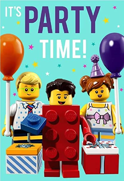 Hallmark - Tarjeta de felicitación de cumpleaños de Lego ...