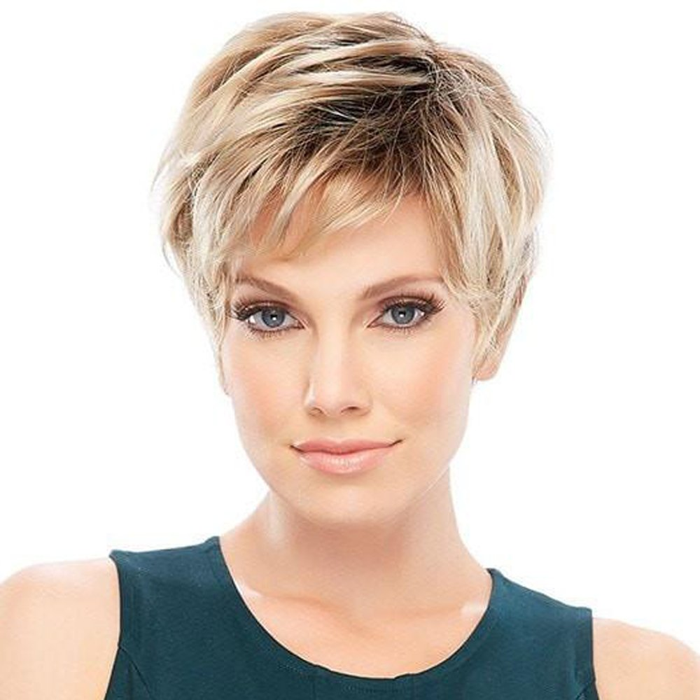 Haircube Charming Human Hair Wigs For Women Short Blonde Hair With Black Root Wigs Buy Online In Gambia At Desertcart
