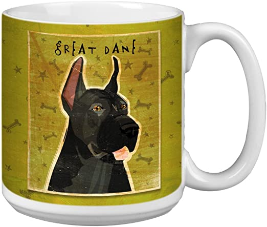 Tree-Free Greetings XM28068 John W Black Great Dane Golden Artful Jumbo Mug 20-Ounce