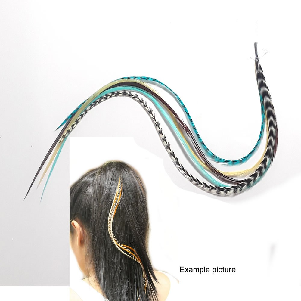 Amazon Feather Hair Extension 5 Genuine 8 10 Turquoise