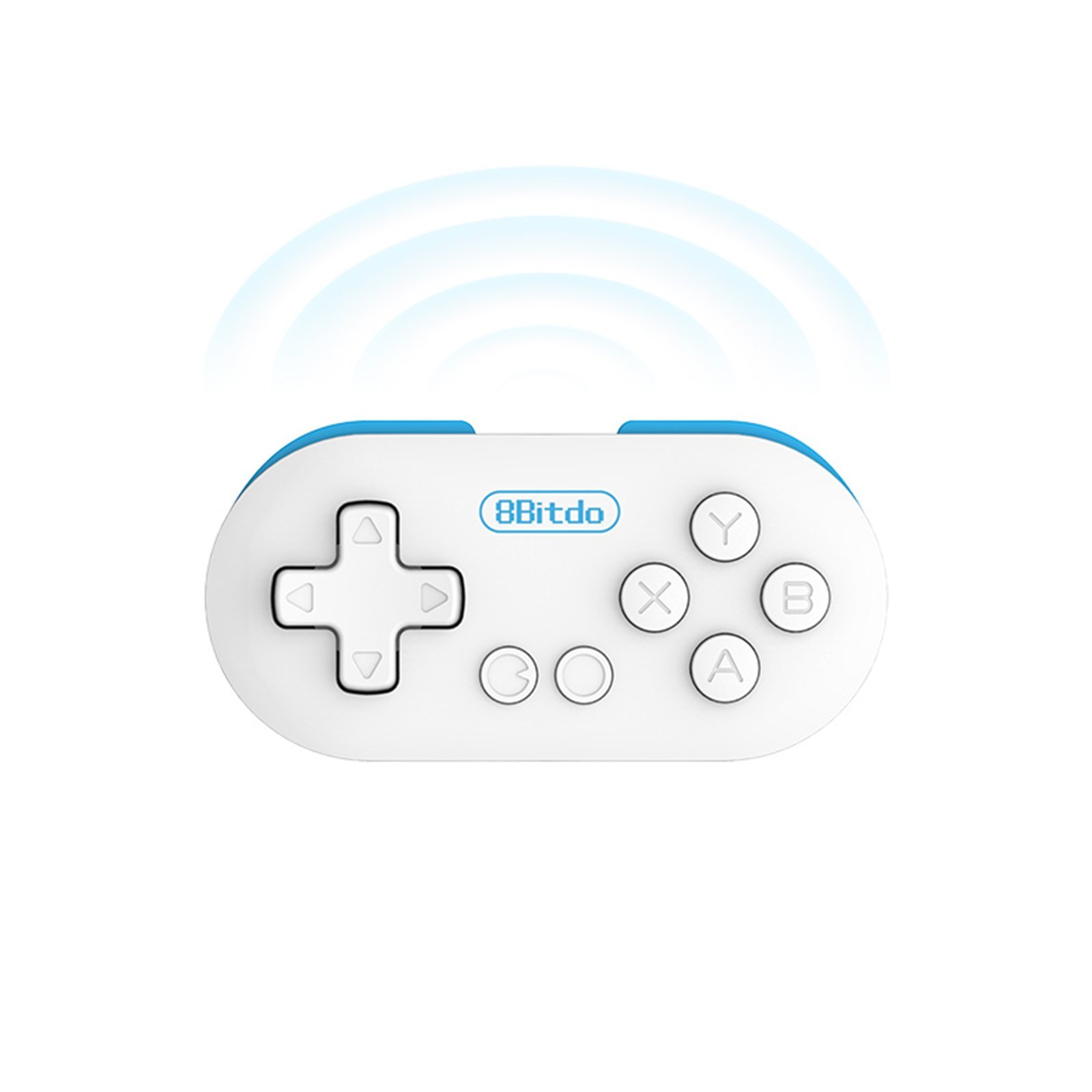 8bitdo Zero Mini Gamepad, Bluetooth Wireless Game Controller with Self Shutter function, Games Console for Android IOS Windows Iphone Ipad etc. Blue by FASTSNAIL