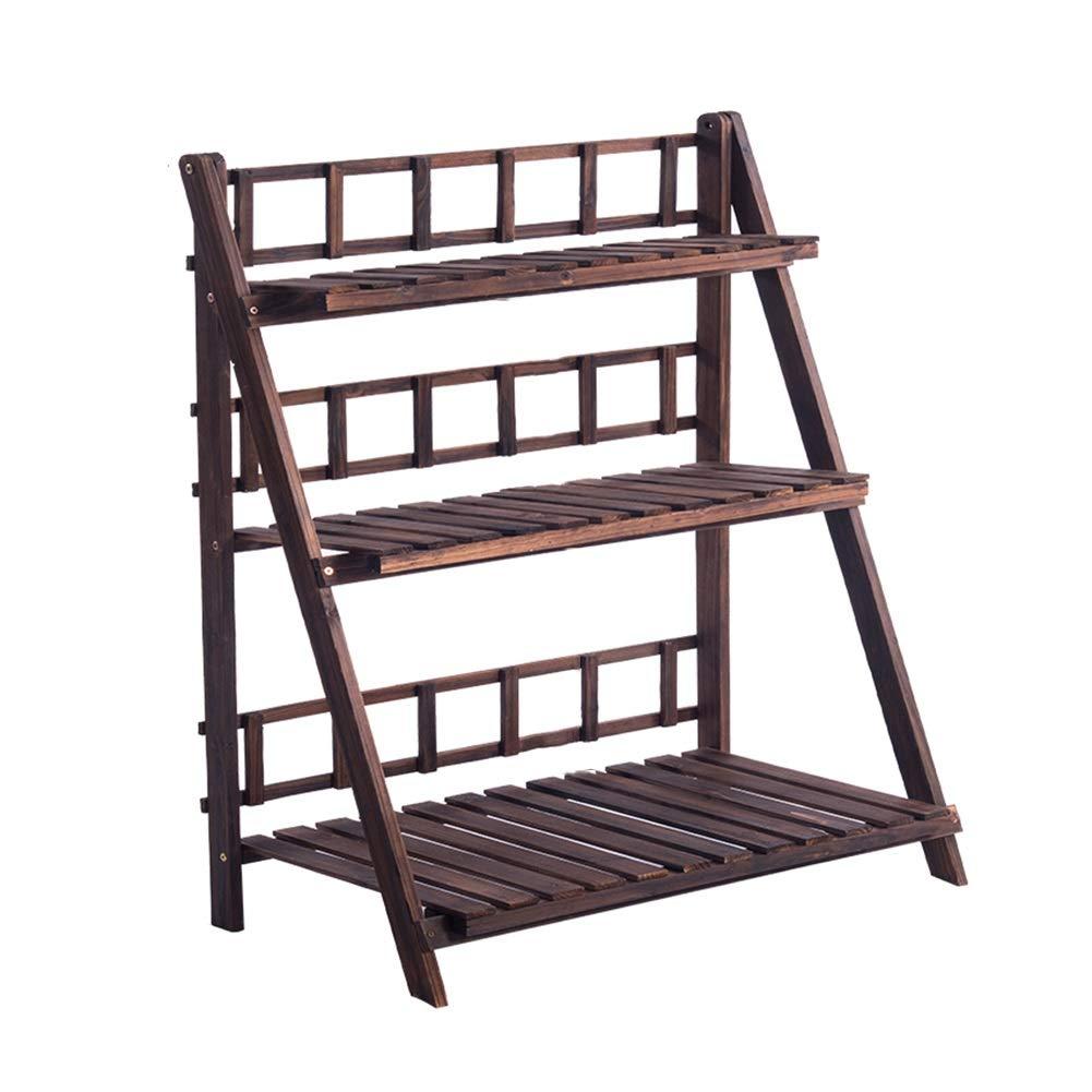 molte sorprese Plant Stand for Indoor Outdoor Garden, Multi Storage Shelf, Shelf, Shelf, 3 Tier Foldable Decor Display Rack  presa