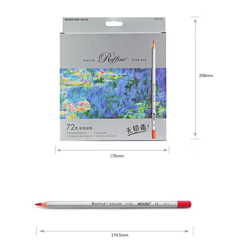 Colored Pencils Lance Home 72pcs Drawing For Artist Sketch Adult Coloring Books Secret Garden Book Enchanted Forest And Lost Ocean