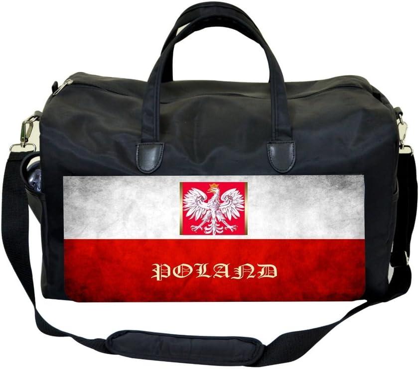 Poland Flag Print Design Sports Bag