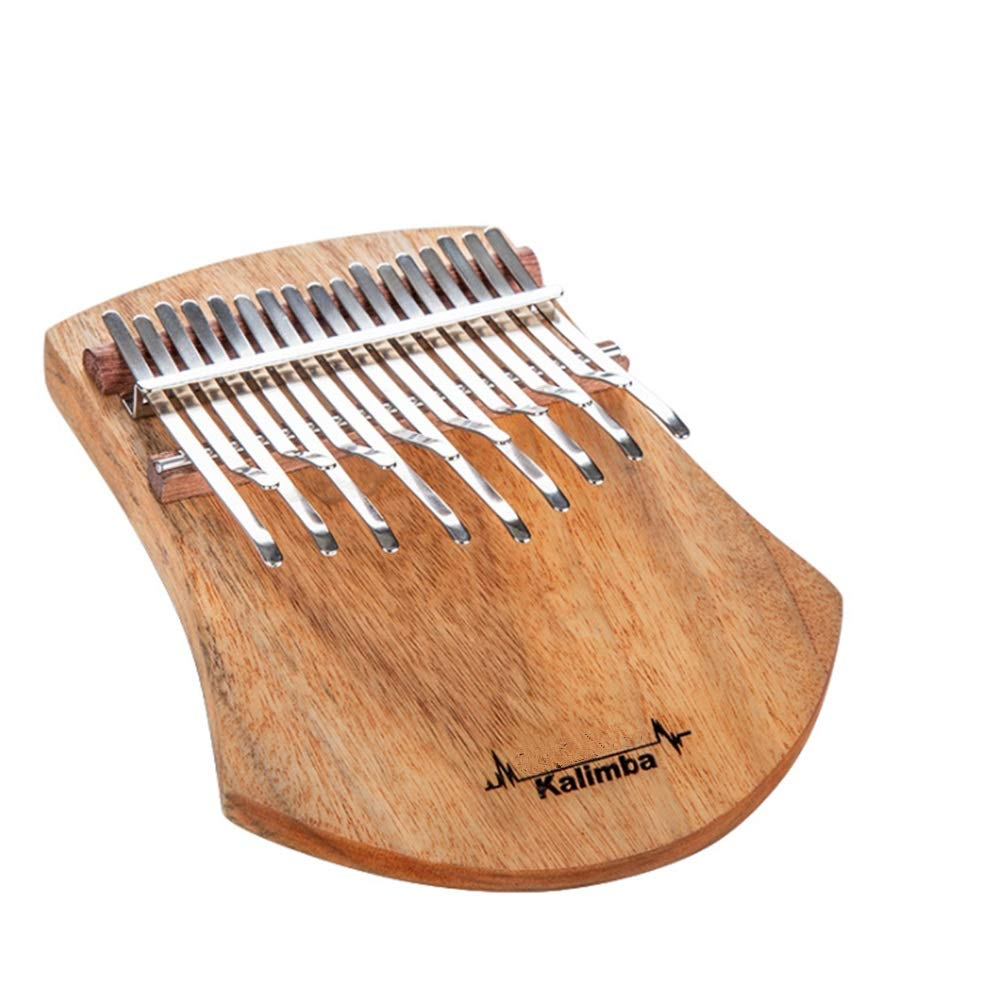 BWAM-MUS Professional Finger Thumb Piano Natural Wood Standard C Tune 17 Keys Kalimba Thumb Piano Finger Piano Metal Tines with Tuning Hammer Instructions Carry Bag African Musical Instrument Kids