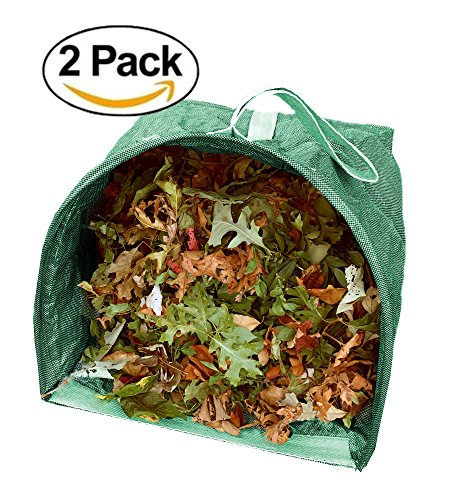 Lawn and Leaf Bags (2) Reusable Garden Bags - Collapsible Yard Waste Bags and Debris Container - 53 Gallons per Bag - Leaf Bagger
