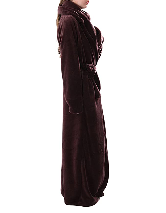 Women Men s Unisex Fall Winter Flannel Cozy Warm Home Bathrobe Bathrobe  Pajamas Thick Warm Pants Bathrobe Pajamas Extra Long 01495bd9d