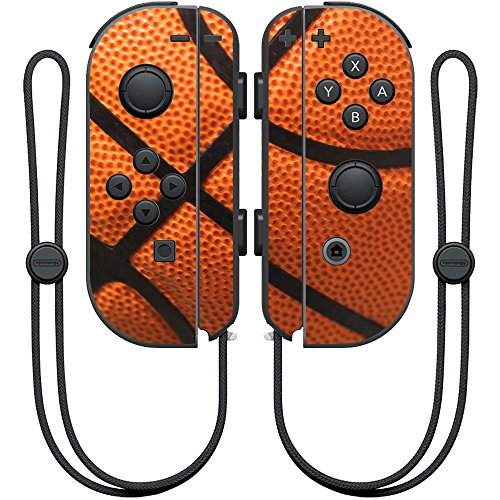 MightySkins Skin Compatible with Nintendo Joy-Con Controller wrap Cover Sticker Skins Basketball