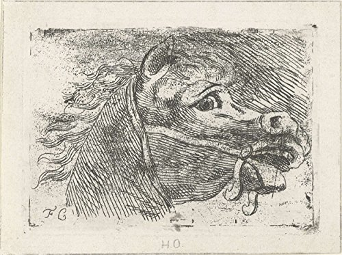 "Classic Art Poster - Head of a horse, Floris Croese, 1763 - 1808 11"" x 14"""