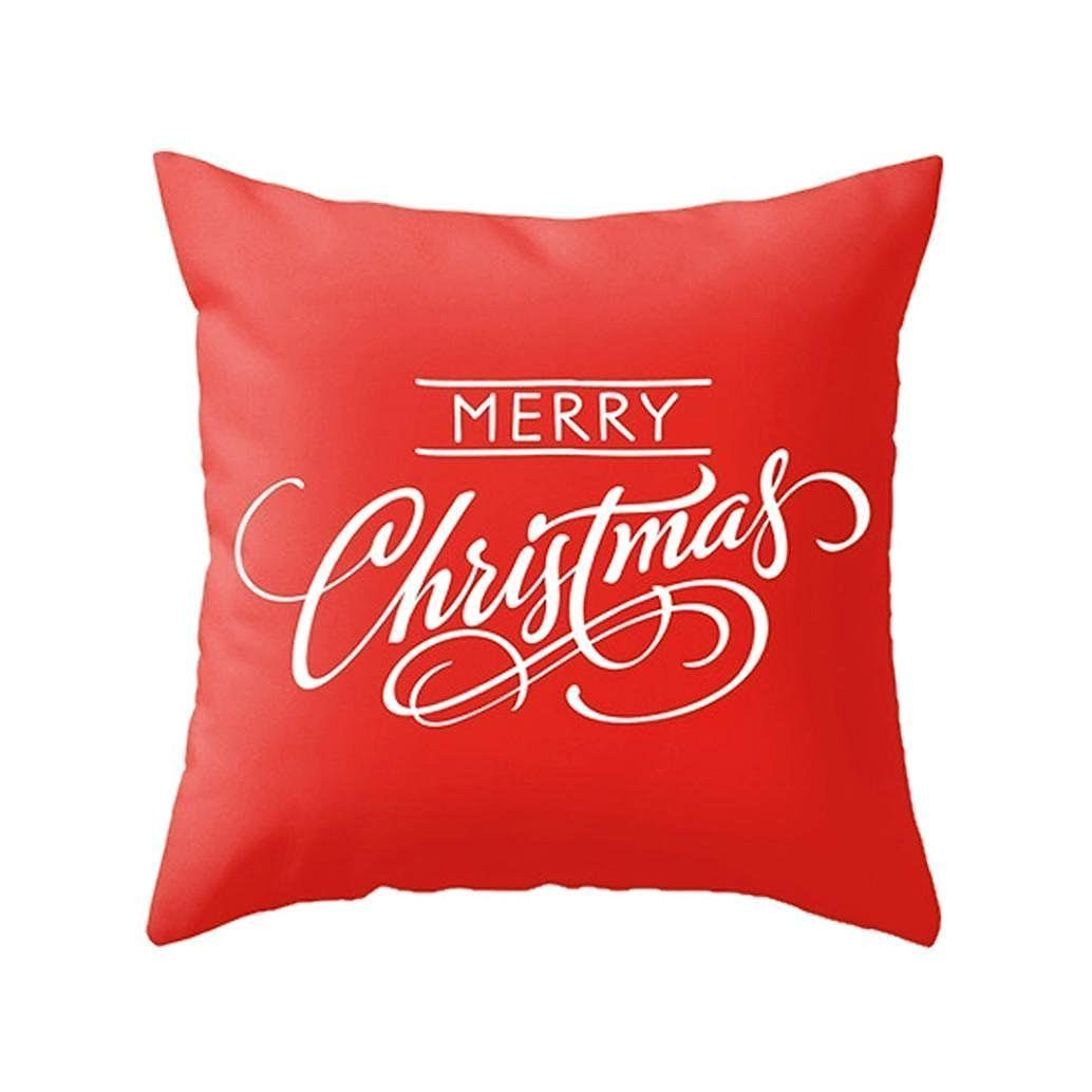 amazoncom howarmer x christmas decoration red throw pillow  - amazoncom howarmer x christmas decoration red throw pillow coverembroidered throw pillows for teen christmas snow home  kitchen
