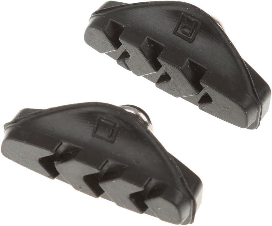 2x Bicicleta De Carretera Pastillas De Pinza De Freno De Bicicleta Ciclo De Zapatos Bloques Negro