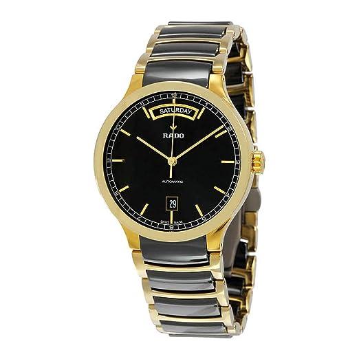 Rado Centrix tono dorado y cerámica automático Mens Reloj R30157162: Amazon.es: Relojes
