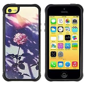 "Hypernova Defender Series TPU protection Cas Case Coque pour Apple iPhone 5C [Retro Flor rosada de la foto""]"