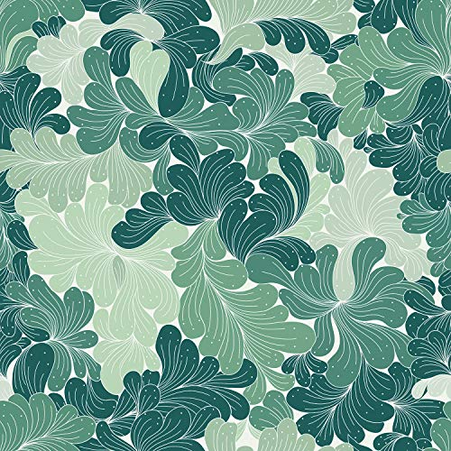 AMAZING WALL Peel and Stick Wallpaper Green Pattern Self Adhesive 40x500cm