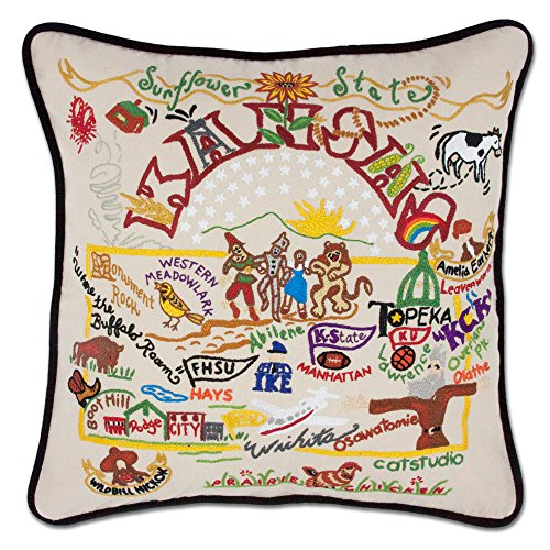 Kansas State Pillow by Catstudio - Kansas Pillow