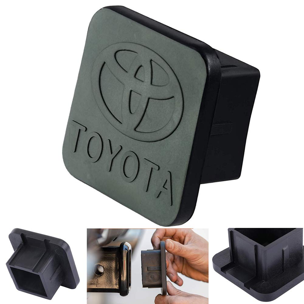 Trailer Hitch Tube Cover Plug Cap for Toyota,Toyota Logo Rubber Receiver Tube Hitch Plug,Toyota Trailer Hitch Cover (Toyota) by Goodcover