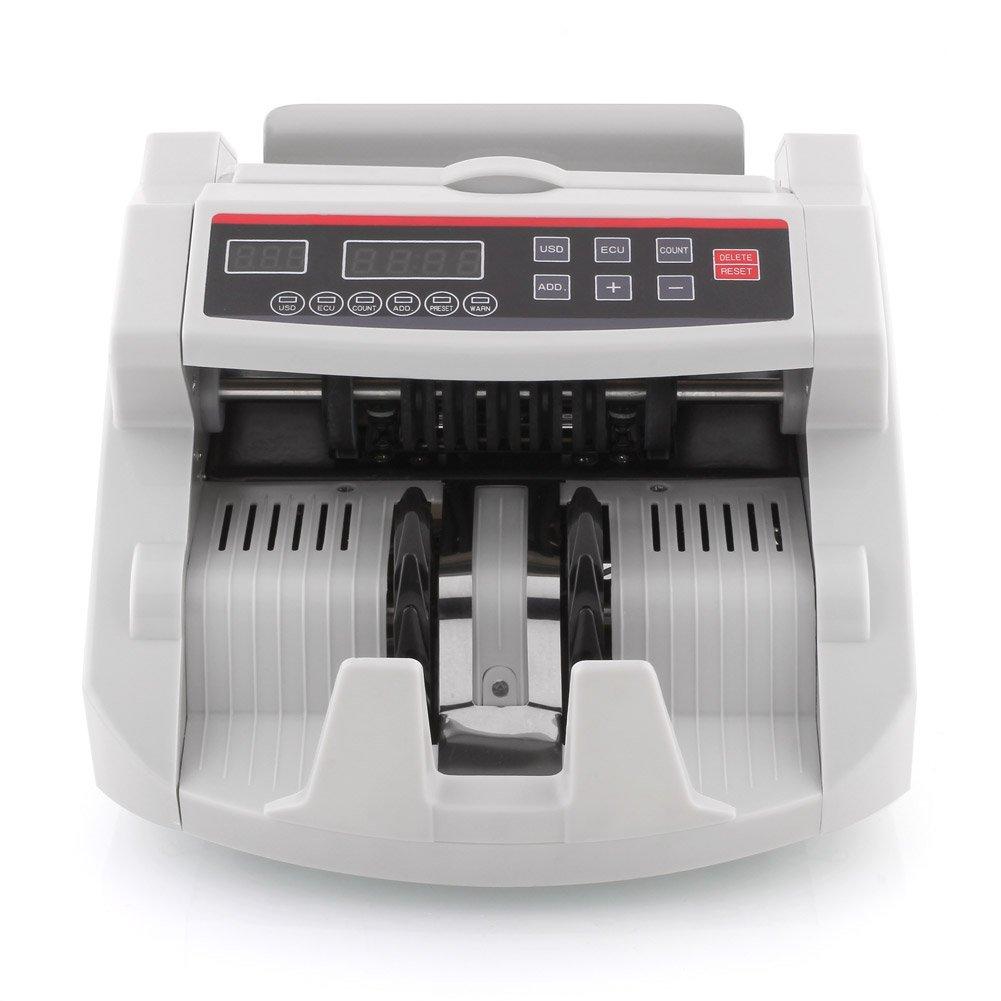 MVPower - Conta banconote contatore di denaro rilevatore di banconote false controllo UV/IR magnetico rapido Euro/Dollaro