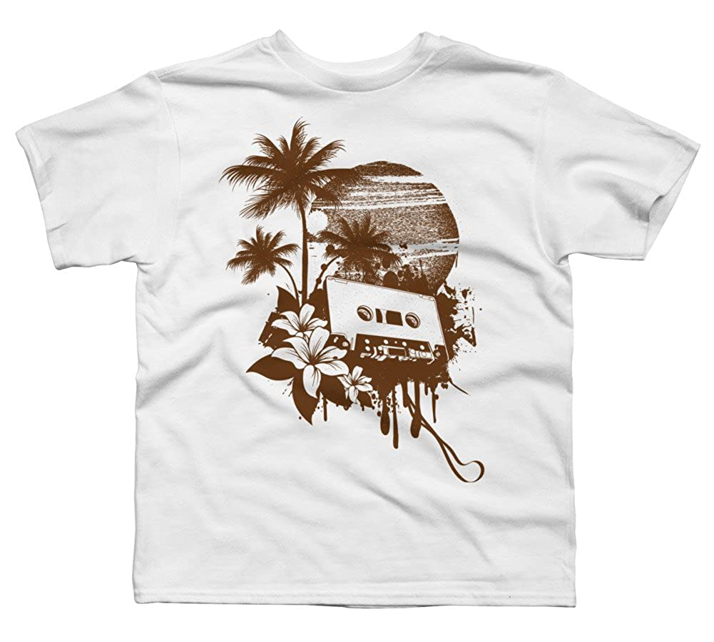 Design By Humans Music Summer Boys Youth Graphic T Shirt