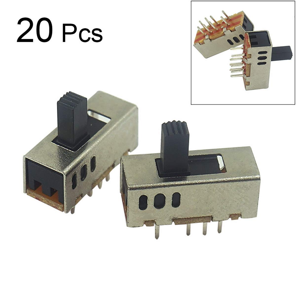 Loweryeah 2P3T Three-Speed Toggle Switch Electric Toy Torch Switch 20pcs