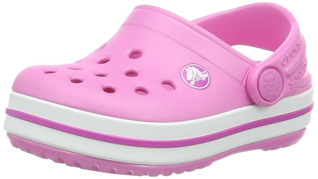 Crocs Kids' Crocband Clog, Party Pink, 9 Toddler