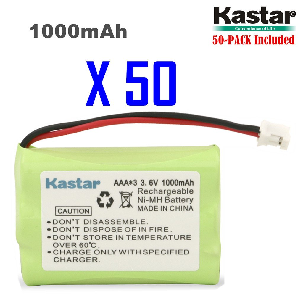 Kastar 50-PACK AAAX3 3.6V PH 1000mAh Ni-MH Battery for Motorola Series Monitor and Graco 2795DIG1, 2791, 2796VIB1, TMK NI-MH, iMonitor vibe by Kastar