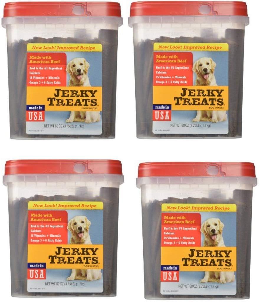 Jerky Treats Tender Beef Strips Dog Snacks, 60 oz, 4 Pack