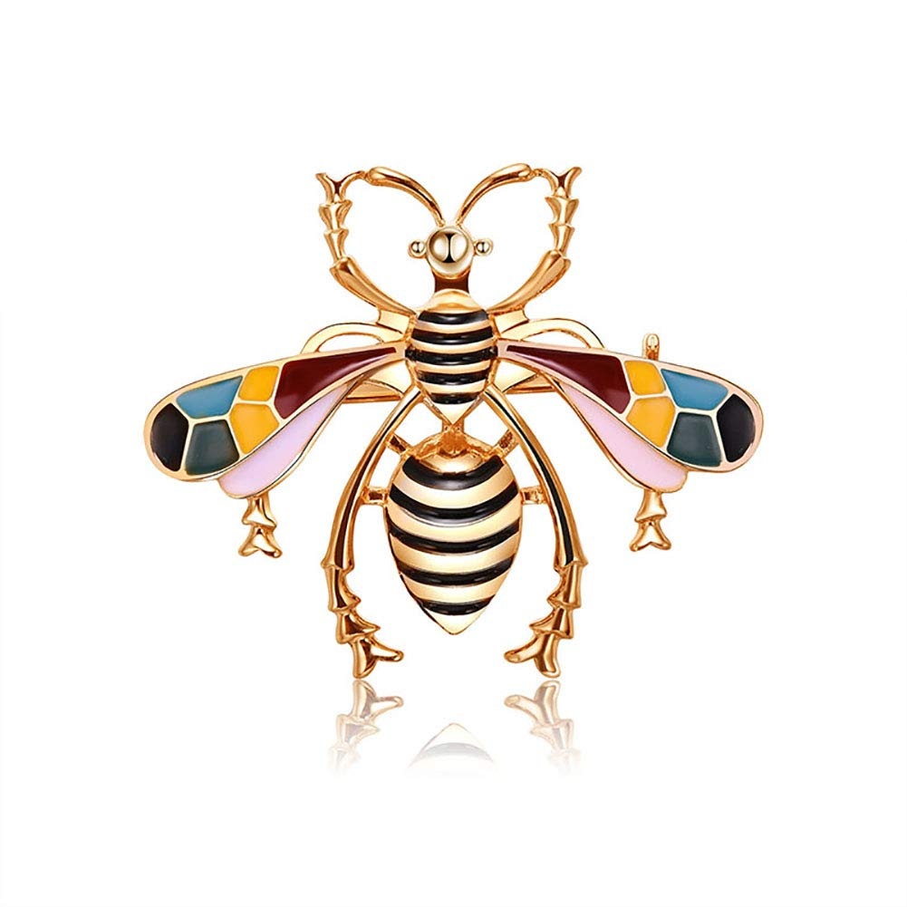 Yodio Golden Beautiful Insect Shape Brooch Festival Celebration Accessories Clothing Brooch for Unisex(4.04.7cm)