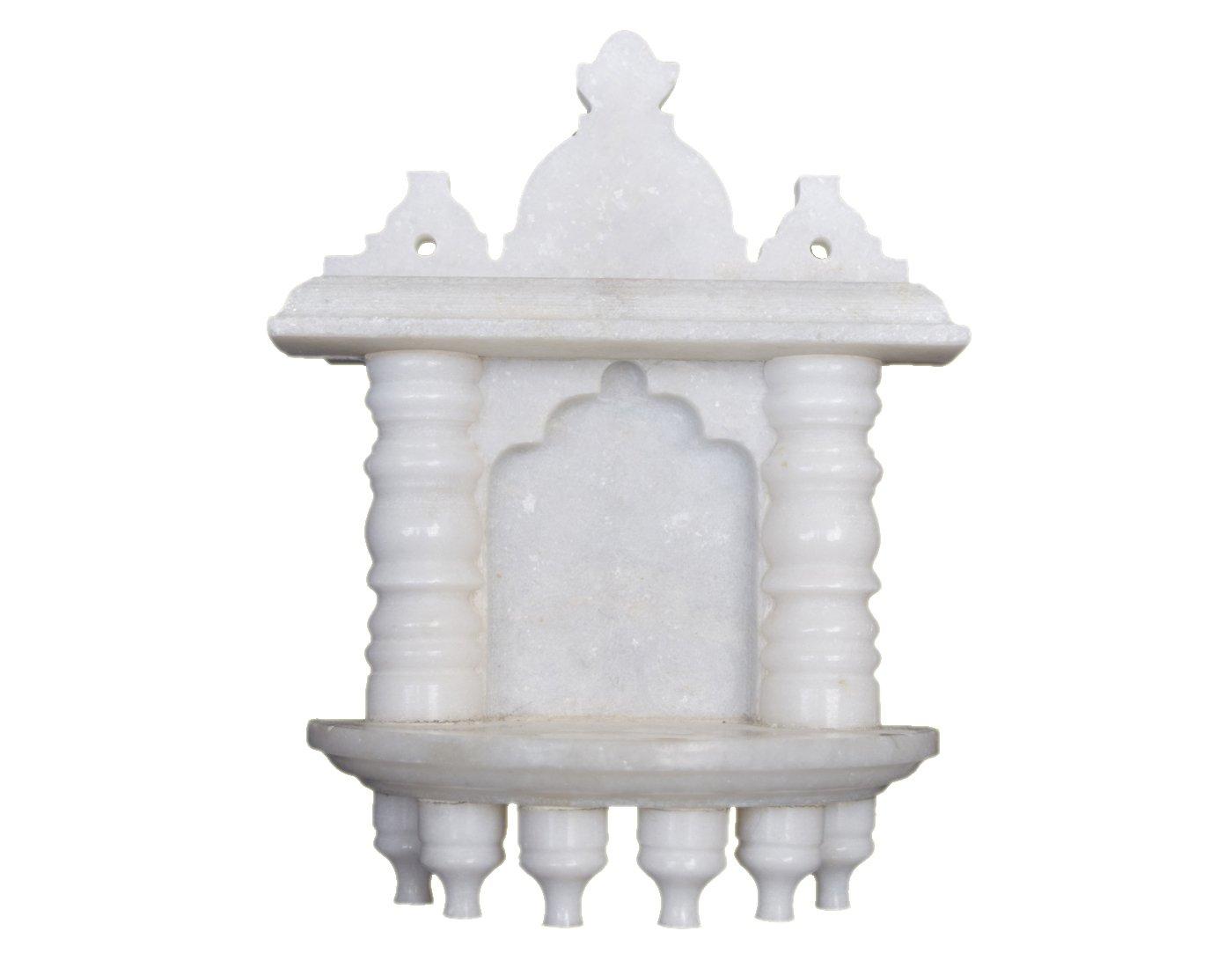 Buy eShilp White Marble Home Temple Pooja Mandir (14.6 cm x 7.6 cm x ...