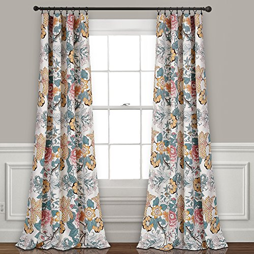 Lush Decor Syndney Room Darkening Window Curtain Panel Pair, 84