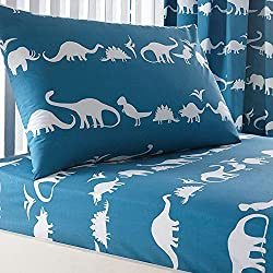 Merryfeel 100% Cotton Dinosaur Print Sheet Set for Kids Bedding - Full