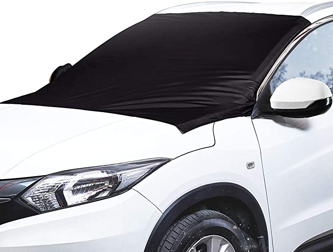 Bestrgi Windshield Snow Cover Sunshade On-e Blanket Di-rec-ti-on Winter Car Windshield Waterproof Universal Daily Use Cover Window Visor Fits Most Cars and SUV Gift