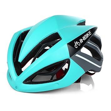 Inbike Casco de Ciclismo, Casco de Bicicleta Unisex, Color Negro&Verde