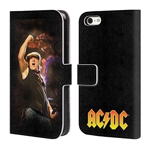 Officiel AC/DC ACDC A Obtenu Un Certain Tonnerre De Rock 'n' Roll Solo Étui Coque De Livre En Cuir Pour Apple iPhone 5c