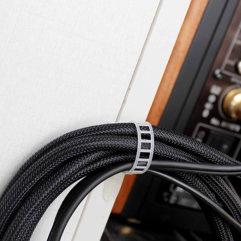 Weiß Verstellbare Kabelhalter Set Management kabelbinder, Kabel ...