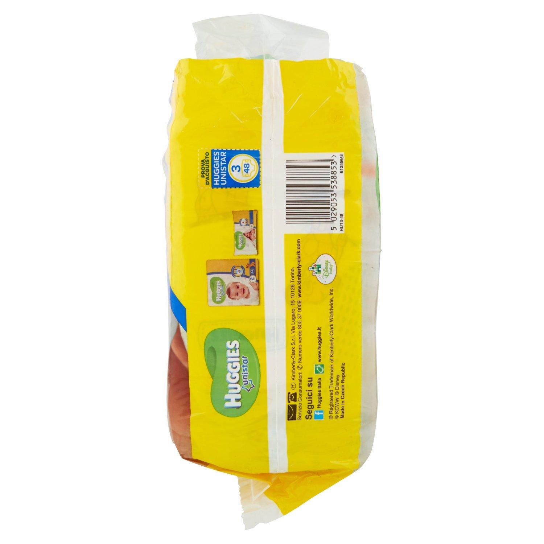 Huggies - Unistar - Pañales - Talla 3 (4-9 kg) - 2 x 24 pañales: Amazon.es: Salud y cuidado personal