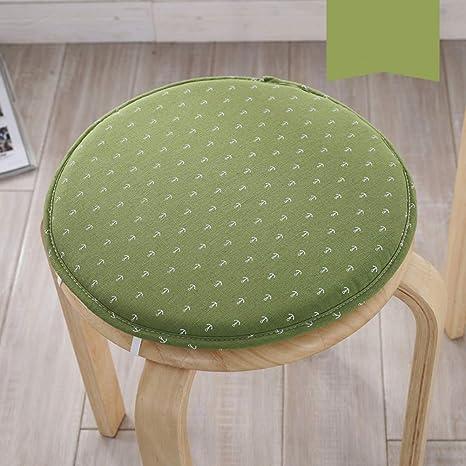Amazon.com: Cojín para silla redonda de esponja cálida, de ...