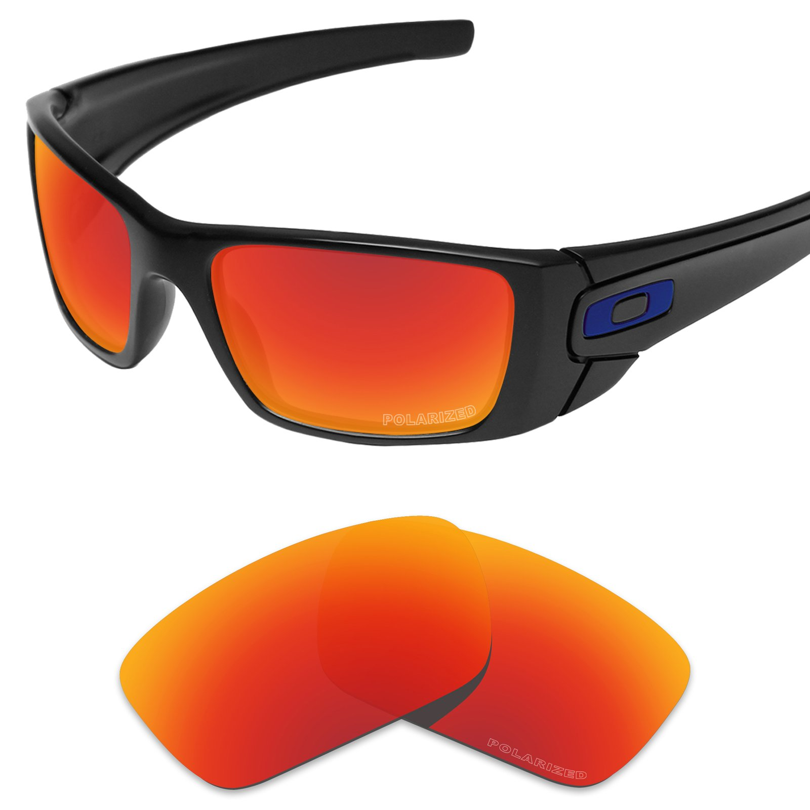 Tintart Performance Replacement Lenses for Oakley Fuel Cell Sunglass Polarized Etched-Fire Red by Tintart