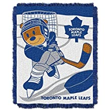NHL Toronto Maple Leafs Score Woven Jacquard Baby Throw Blanket, 36x46-Inch by Northwest