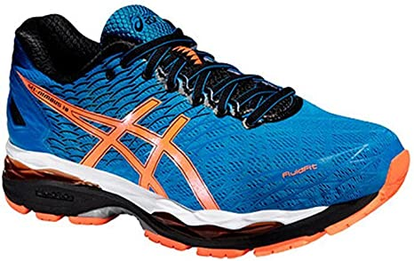 asics gel nimbus 18 bleu orange