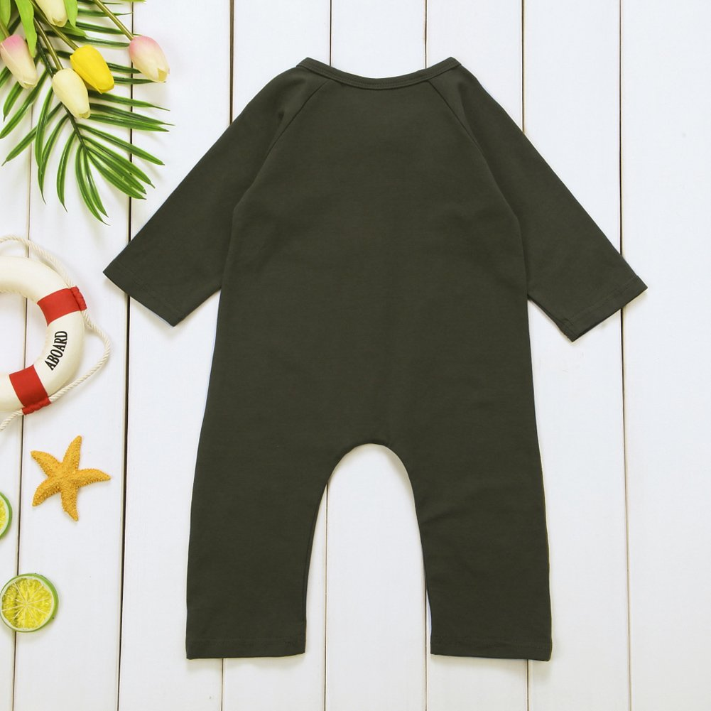 7691b0325 Amazon.com  Infant Baby Boy Girl Long Sleeve Romper Jumpsuit with ...