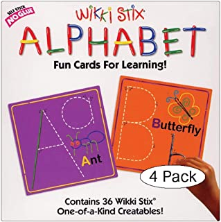 product image for WikkiStix Alphabet Cards Set (Pack of 4, Multi-Color)
