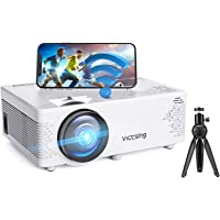 """VicTsing WiFi Projector-4200L Wireless Bluetooth Mini Projector with Tripod, 1080P 170"""" Display Supported, Compatible…"""
