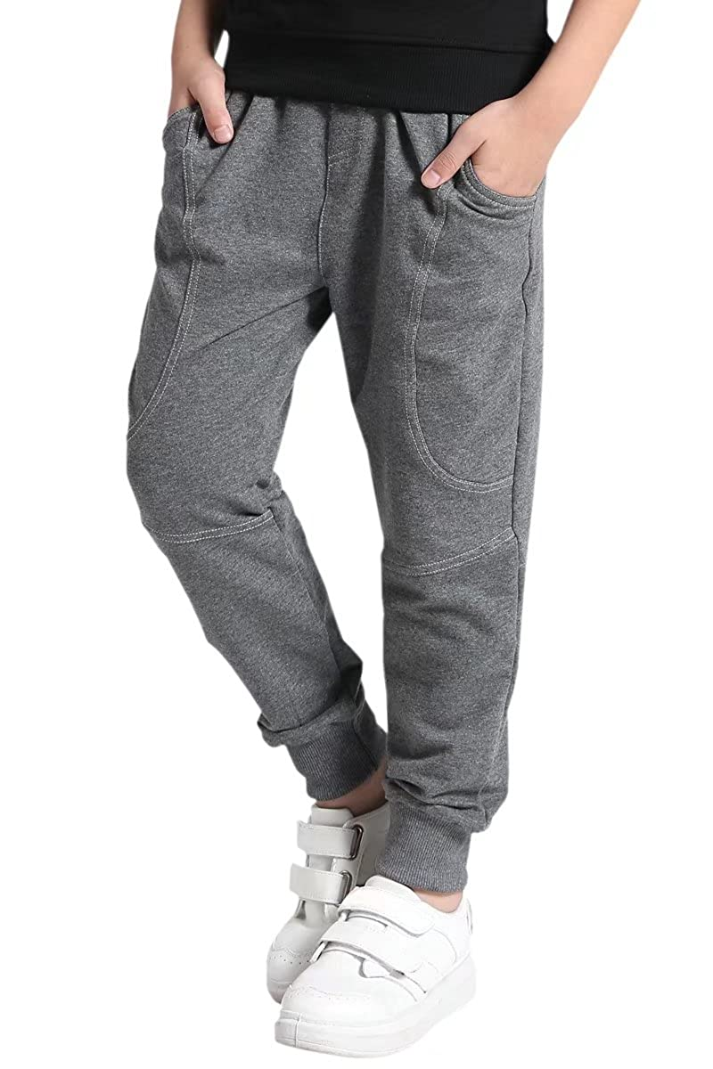 AOWKULAE Boys Cotton Jogger Pants