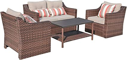 Amazon.com: SUNSITT 4-Piece Patio Conversation Set All Weather
