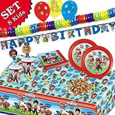 Paw Patrol Cumpleaños Decoración de cumpleaños, 54 piezas ...