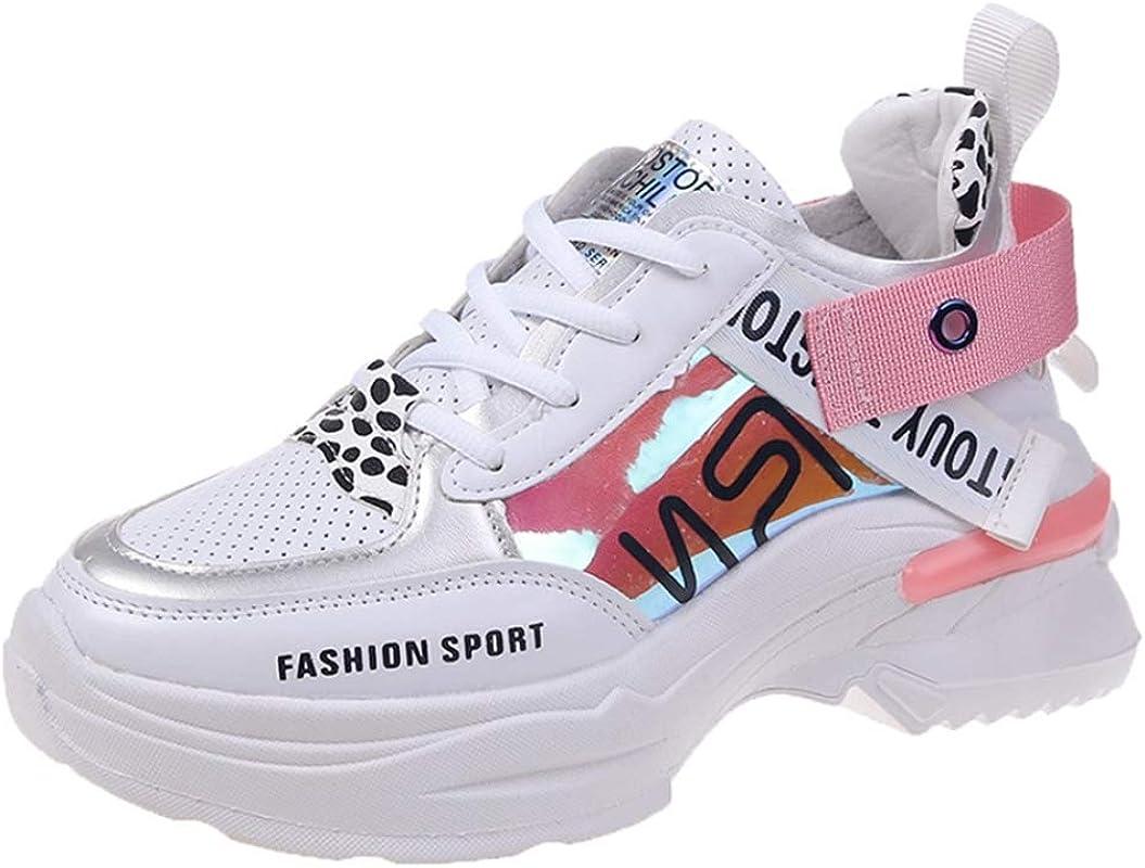 Mujer Zapatillas Chunky Pintadas A Mano Verano Casual Plataforma Alta Zapatos Mujer Alto Top Transpirable Color Mezclado Zapatillas de Deporte de Moda: Amazon.es: Zapatos y complementos