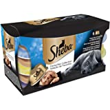 Sheba Dome Cat Food Trays Favourites Collection in Gravy, 6 x 80 g (Pack of 5)