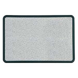 Quartet Contour Bulletin Board, 2 Feet x 1.5 Feet, Granite-Colored Surface with Black Plastic Frame (699365)