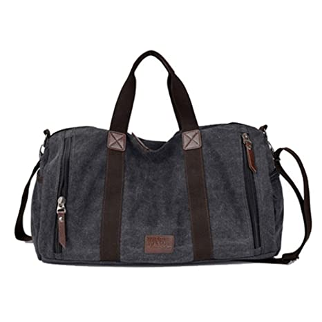 ae0b411a6 Image Unavailable. Image not available for. Color: Large Capacity Men Hand  Luggage Travel Duffle Bags Canvas ...