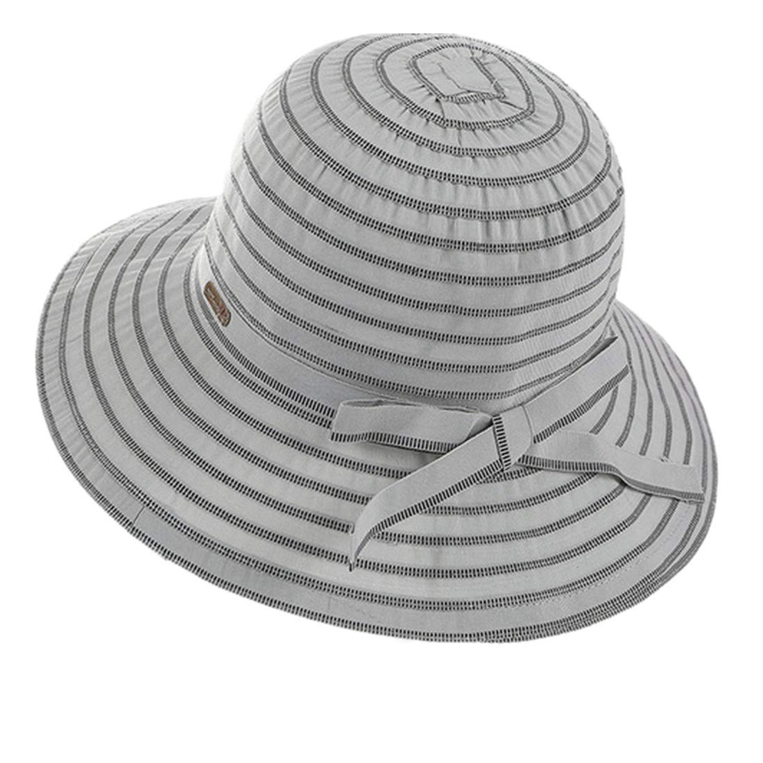 1 pcs Summer Casual Striped Sun Hats Foldable Big Brim Beach Hat Shade Sunscreen Pink Cap Cotton Bucket Hat